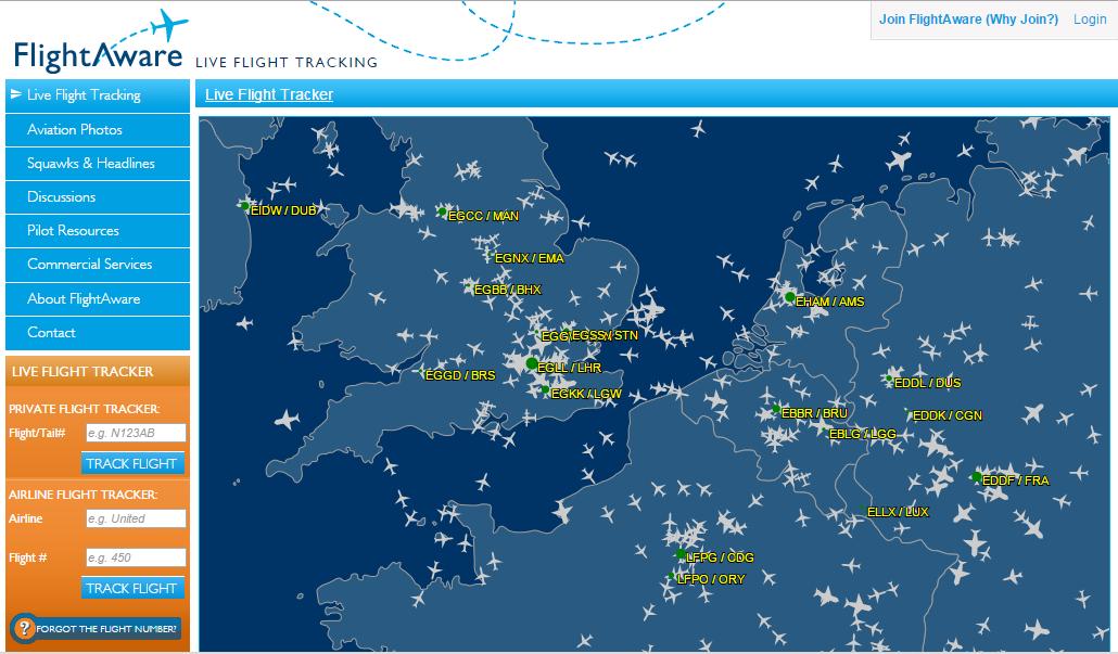موقع + تطبيق للهواتف المحمولة لمتابعة رحلات الطيران في الوقت الحقيقي